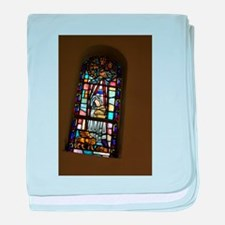 church stained glass window baby blanket