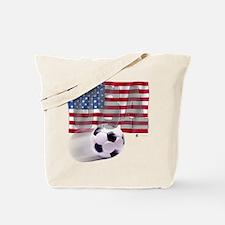 Soccer Flag USA Tote Bag