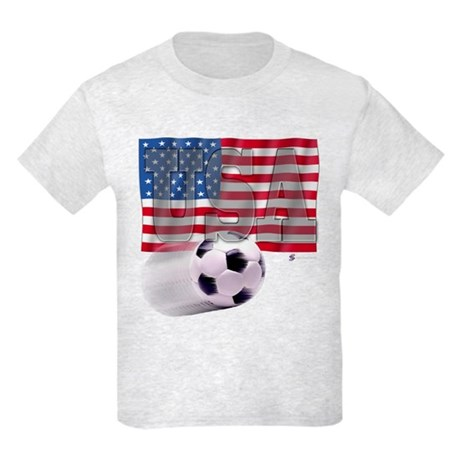 Soccer Flag USA Kids Light T-Shirt