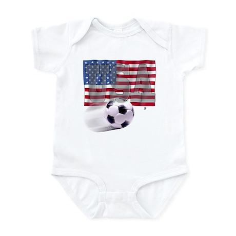 Soccer Flag USA Infant Bodysuit