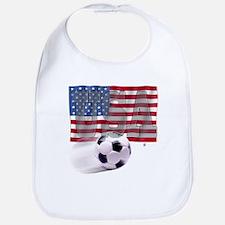 Soccer Flag USA Bib