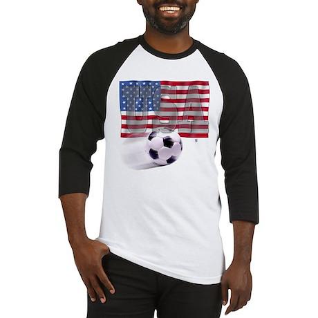 Soccer Flag USA Baseball Jersey