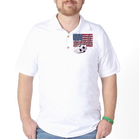 Soccer Flag USA Golf Shirt