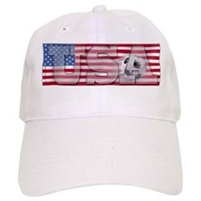 Soccer Flag USA Baseball Cap