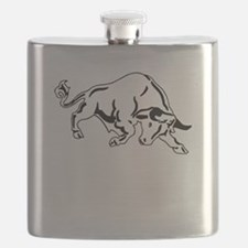 Charging Bull Flask