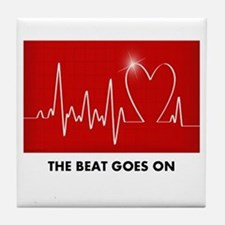The Beat Goes On - Post Heart Attack Tile Coaster