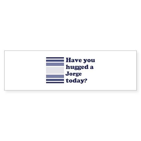 Hugged Jorge Bumper Sticker