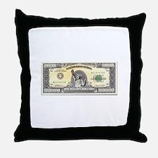 Million Dollar Throw Pillow
