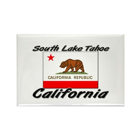 South Lake Tahoe California Rectangle Magnet
