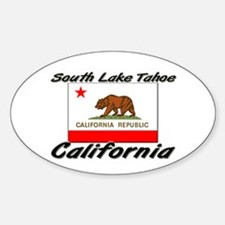 South Lake Tahoe California Oval Decal