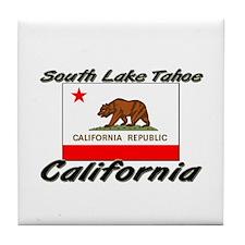 South Lake Tahoe California Tile Coaster