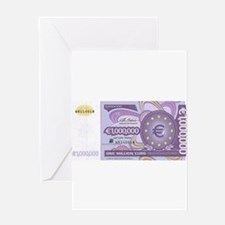 Million Euro - Money Shop Greeting Cards