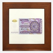 Million Euro - Money Shop Framed Tile