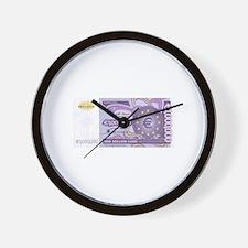 Million Euro - Money Shop Wall Clock