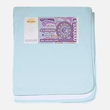 Million Euro - Money Shop baby blanket