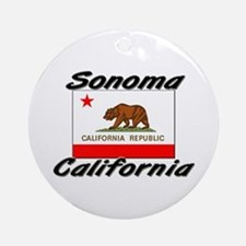 Sonoma California Ornament (Round)