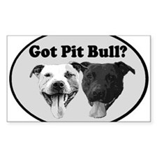 Got Pit Bull? Rectangle Decal
