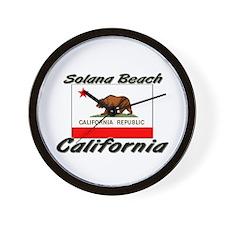 Solana Beach California Wall Clock