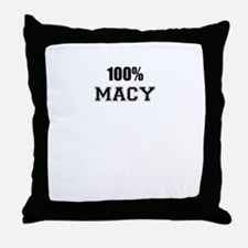 100% MACY Throw Pillow