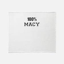 100% MACY Throw Blanket