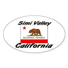 Simi Valley California Oval Decal