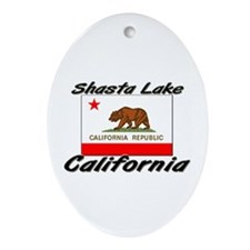Shasta Lake California Oval Ornament