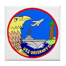 USS Oriskany (CVA 34) Tile Coaster