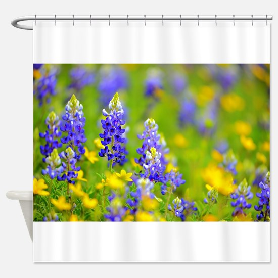 Bright Wildflowers Shower Curtain