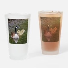 Cute Canadian geese Drinking Glass