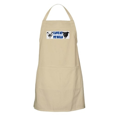 I Love My PBs (blue) BBQ Apron