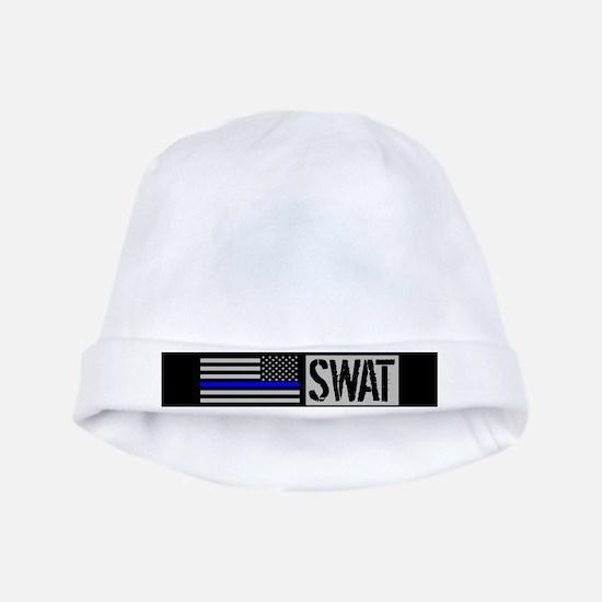 Police: SWAT & Blue Line U.S. Flag baby hat