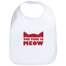 Time Is Meow Bib