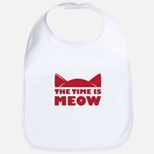 Time Is Meow Bib