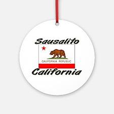 Sausalito California Ornament (Round)