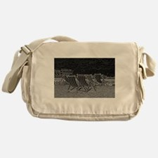 Cute Brighton beach Messenger Bag
