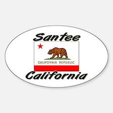 Santee California Oval Decal