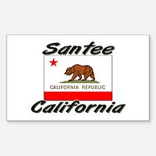 Santee California Rectangle Decal
