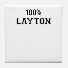 100% LAYTON Tile Coaster