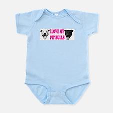 I Love My PBs (pink) Infant Creeper