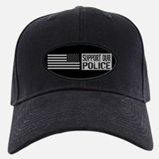Support Our Police: Black U.S. Flag Baseball Hat