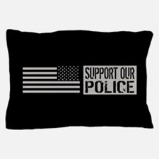 Support Our Police: Black U.S. Flag Pillow Case