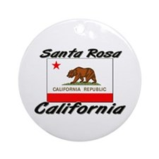 Santa Rosa California Ornament (Round)
