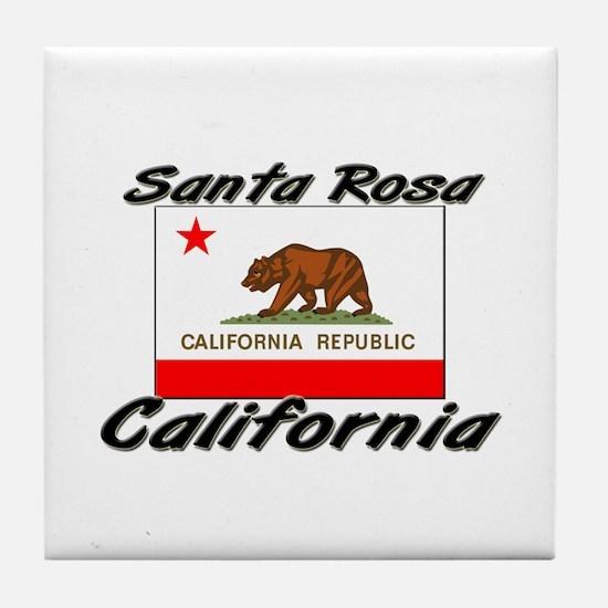 Santa Rosa California Tile Coaster