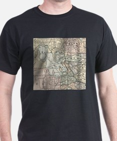 Vintage Map of Salt Lake City (1891) T-Shirt