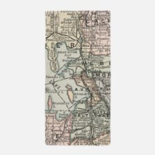 Vintage Map of Salt Lake City (1891) Beach Towel