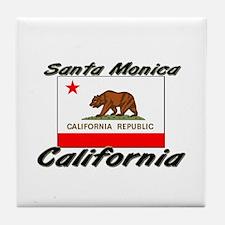 Santa Monica California Tile Coaster