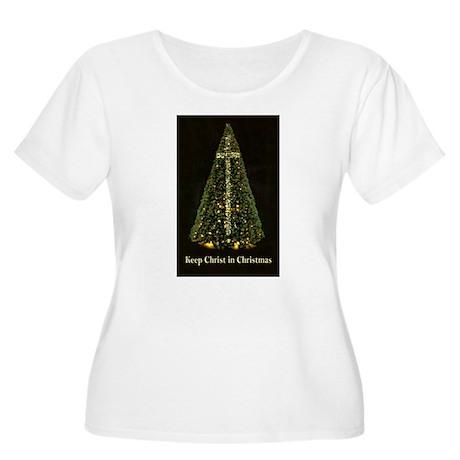 KEEP CHRIST IN CHRISTMAS Women's Plus Size Scoop N