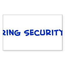 Ring Security Rectangle Decal