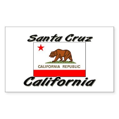 Santa Cruz California Rectangle Sticker