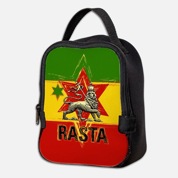Rasta Irie Jamaican Lionneoprene Lunch Bag